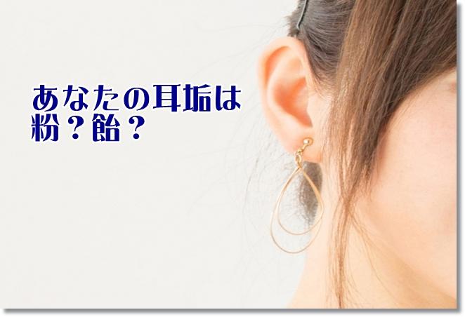 女性の耳を見せる