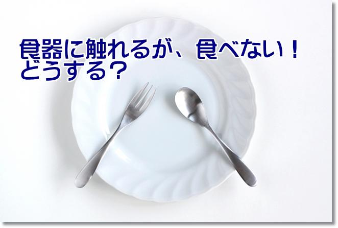 食器やスプーンに触れるが、食べようとしない!どうする?
