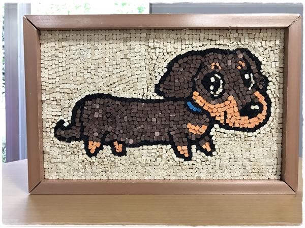 割り箸モザイク犬