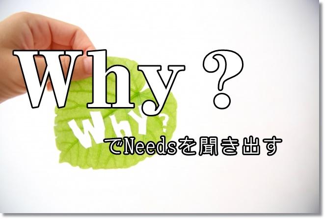 Ask If~?&Why?で潜在的なNeeds(ニーズ)を探る!